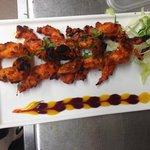 Fresh water tandoori  king prawn