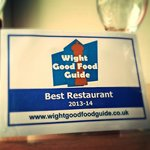 Wight Good Food Guide Best Restaurant 2014 - they just keep coming!!