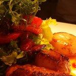 Fresh scallops with sweet chilli sauce - yum!
