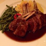Grilled lamb chop with red wine sauce - done to melt-in-your-mouth perfection