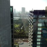 Hama Rikyu gardens seen from the room