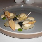 Scallop with black radishes