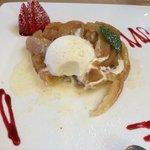 torta de maçã sobremesa do almoço!
