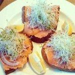 Salmon Rushdie dish.