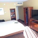 King bed, plasma TV, microwave & frig...