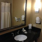 Small, but decent bathroom