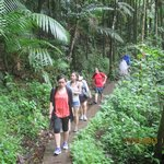 My family on La Mina Trail