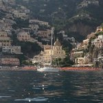 View of Positano from Hotel boat