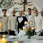 dining staff at La Sponda restaurant