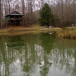 The pond near some of the cabins