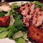 Caesar Salad with Polenta