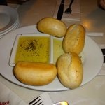 Bread with olive seasoned olive oil