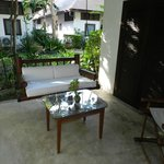 Room 261 -- outdoor sitting area