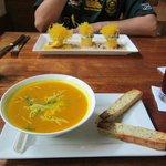 Pumpkin soup and causas