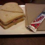 Kids meal: ham sandwhich and a yogurt