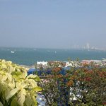 Nice view of Pattaya Bay from roof