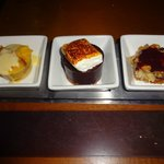 American Flavors dessert trio
