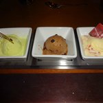 Fall and Winter Ice Cream dessert trio