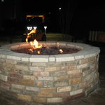 Fire pit at night - warm