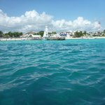 view of puerto morelos from boat