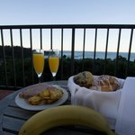 Breakfast was so nice. Loved the view from our room