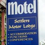 Motel front sign