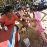 "Buying a ""snow cone"" at Playa Conchal"