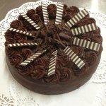 Chocolate Tia Maria Truffle Cake