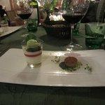 Dinner am Abend, ein Zwischengang vom 6-Gänge Menü
