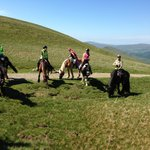 On the summit of Walna Scar - Langdale Trail Ride