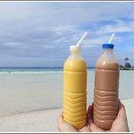 Mango & Chocolate Peanut Milkshake