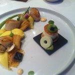 Coquilles met kokkels en bereiding van paling