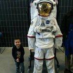 My boy with an astronaut uniform.