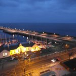 Dun laoghaire harbour at night.