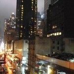 vue de notre chambre vers Times Square