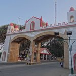 the resort is right at the Diu checkpost