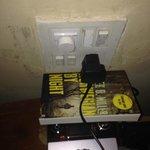 wiring! Plugs had to be balanced on books.