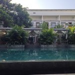 View of rooms from pool lounge