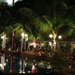 New Year's Eve dinner by the pool