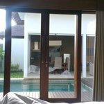 view of private pool from double room