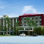 A newly built hotel with 5 storeys building