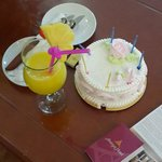 Pineaple juice & anniversary cake