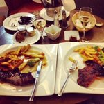 1st meal as a fiancè - Steak & Champs