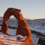 Delicate Arch Sunset view