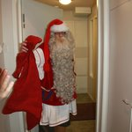 Private visit of Santa to our cabin