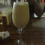 The banana shake (130p - US $2.95) comes in a big glass!