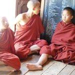Novice monks relaxing