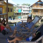 "Relaxing at Dolphin Cabin: drinking ""terere"" Paraguayan drink"