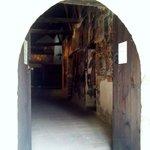 The entrance - glimpse of frescoes