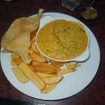 Chicken Curry Poppadom and Chips